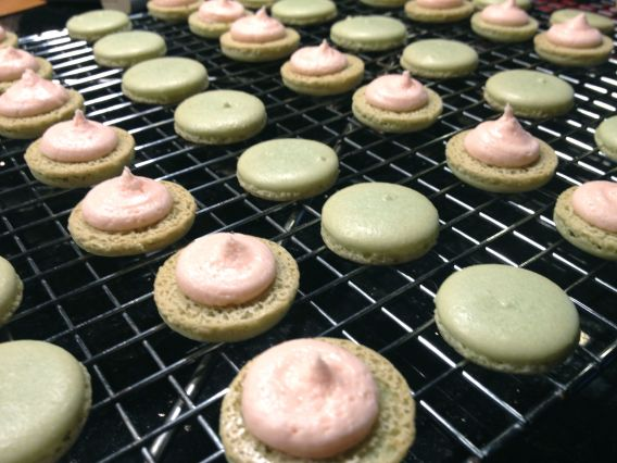 The browning really bothers me! It makes the macarons look dull and sad. :(